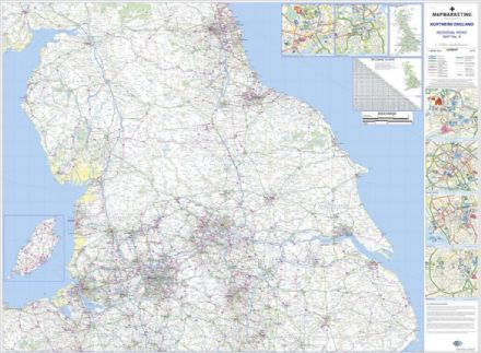Regional Road Map 4 Northern England - Laminated